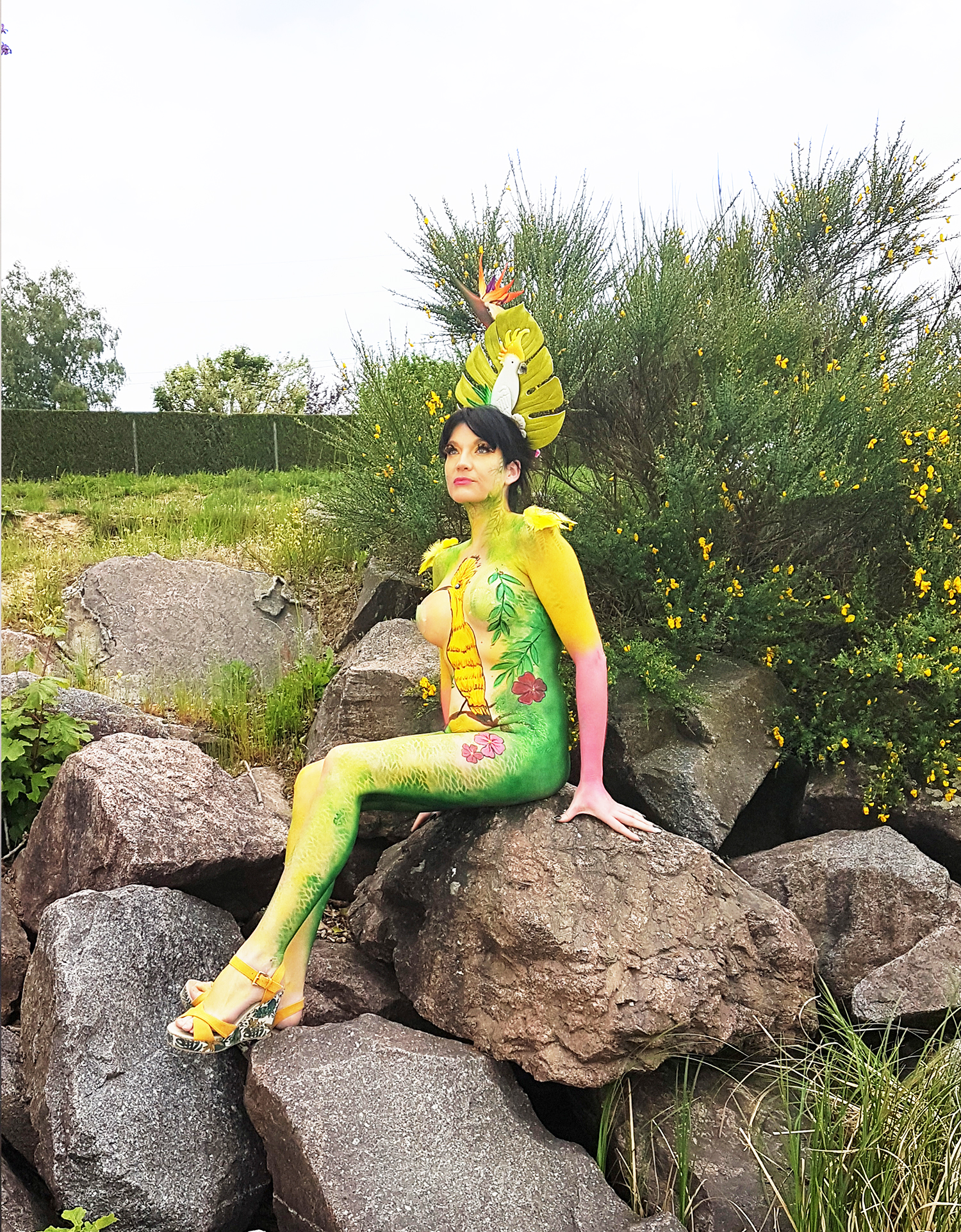 body painting Lyon tropical RBF 2019